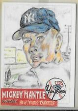 1953 Topps Mickey Mantle sketch art Baseball card short print /40 NY Yankees