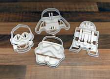 Star Wars Cookie Cutters Set - R2D2, C3PO, Darth Vader, Storm Trooper