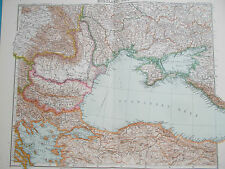 Map of Crimea &  Black Sea. 1909. RUSSIA. UKRAINE.