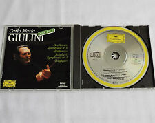 GIULINI / BEETHOVEN Symph #6 - SCHUBERT Symph. #4 W.GERMANY(PDO) CD DGG 429368-2