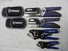 Kobalt Utility Cutter 3-in-1 Knife Shears Measure + Locking Jaw Pliers - 4 pcs