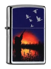 """ZIPPO CHROME BRUSHED COLLECTION """"HUNTER SUNSET"""" LIGHTER /60000910 *+BOX* HUNTING"""