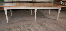10 ft Oak Refectory Table Painted Base Dining
