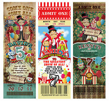 30 Circus Carnival Vintage TICKET Invitations Birthday Party