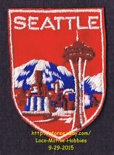LMH PATCH Badge  SEATTLE SPACE NEEDLE  Observation Tower Restaurant  WA Landmark