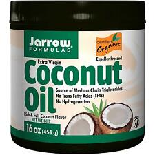 Coconut Oil - Organic & Extra Virgin - 454g (16oz) by Jarrow Formulas - Vegan