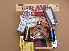 Sharing Kit, No 2.Large Wooden Rolling Box Kit. Grass Tobacco Weed Rizla Smoking