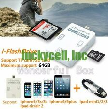 i-Flash Drive External SD/TF Card Reader for iPhone 5 5S 6 6 6S plus iPad iPod
