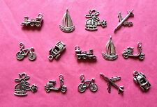 Tibetan Silver Mixed Transport Themed Charms 14 per pack