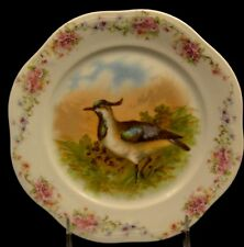Bavaria Mignon ZS&C Hand Painted Bird Plate Rose Swags 7 1/4