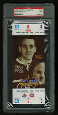 PSA 9  JACQUES PLANTE 1996 Full Hockey Ticket Last Season at The Montreal Forum