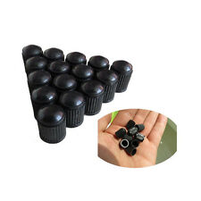 50pcs Black Plastic Car Truck Auto Wheels Tire Valve Stem Cap Lid Air Dust Cover