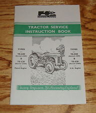 1948-1958 Ferguson Tractor Owners Operators Manual TE-A20 C20 D20 E20