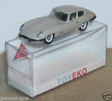 MICRO TOY EKO TOYEKO HO 1/86 1/87 MADE SPAIN JAGUAR TYPE E GRISE REF 2098 BOX2