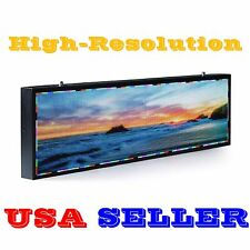 "RGB full color 48""x17"" 6mm LED Sign Programmable Scrolling Message Display video"