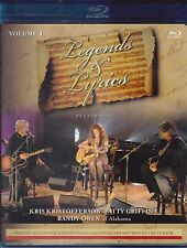 Legends & Lyrics Vol1 Kris Kristofferson Patty Griffin Randy Owen Blue-ray