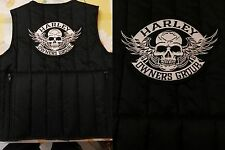 PATCH TERMOADESIVA HARLEY BIKERS CHOPPER SKULL 19,7X13 CM