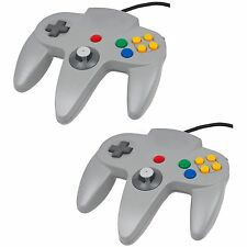 2x Grey Controller For Nintendo 64 N64  Retro Gamepad Joystick  JoyPad New
