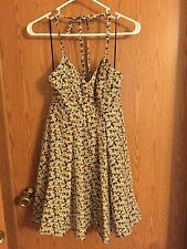 3203)  ELIZABETH AND JAMES sz XS 0 2 silk halter sundress mini dress floral