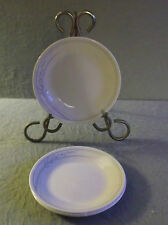CORELLE BLUE LILLY BREAD BUTTER PLATES Set of 4  Dessert Blue on Beige Corning