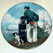 Collector's Society NORMAN ROCKWELL PLATE Rockwell Treaury LOOKING OUT TO SEA