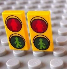 LEGO® Pedestrian Crossing Lights (1x2 printed tile minifigure traffic road sign)