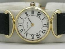 SOLID 14K GOLD CONCORD LADIES MECHANICAL WRIST WATCH 333072 SERVICED & RUNNING!