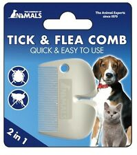 Flea Comb AND TICK REMOVER 2 in 1 PLASTIC COMB - COMPANY OF ANIMALS