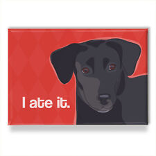 Labrador Retriever Gifts Black Lab - Fridge Magnets with Funny Sayings, I Ate It