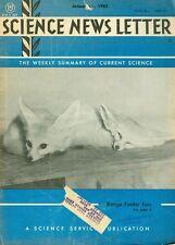 1962 Science News Letter Vol.81 No.1 Range Finder Ears White Desert Fox/Computer