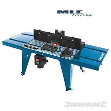 Silverline DIY Bench mounted Router Table with Protractor woodworking 460793