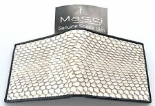 Wallet Natural Mens Bifold Trifold Genuine REAL SNAKE Skin Leather New