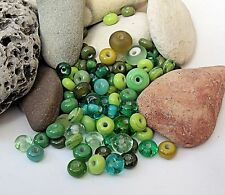 "Handmade Lampwork Beads, ""Forest Mix"". SRA, UK"