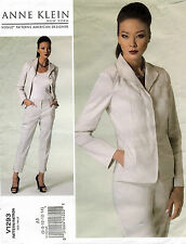 VOGUE American Designer Anne Klein Misses' Jacket&Pants Pattern V1293 6-14 UNCUT