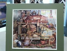 REMINGTON HORTICULTURIST  BY CHARLES WYSOCKI TIGER CAT KITTY GARDEN BENCH FUNNY