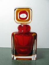 DELIGHTFUL CASED RED GLASS PERFUME BOTTLE WITH STOPPER