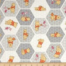 DISNEY WINNIE THE POOH Tessuto Fat Quarter Cotton Craft Quilting A NIDO D'APE