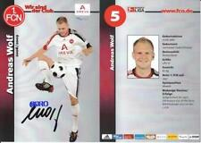 ANDREAS WOLF + 2008/09 + 1.FCN + Orig. Autogrammkarte