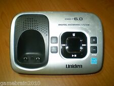 Uniden D1780 DECT6.0 Cordless Phone Answering Machine Base Only! No Dial Tone