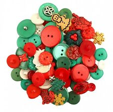 Christmas Button Grab Bag Embellishments Crafts GB117 Santa's Buttons Holiday