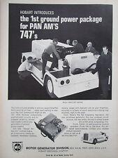 2/1969 PUB HOBART GROUND POWER SUPPORT PAN AM BOEING 747 AIRPORT ORIGINAL AD