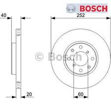2x Bremsscheibe 2 Bremsscheiben BOSCH Vorn Vorderachse OPEL SUZUKI 0986479B98