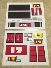 Daitetsujin 17 / D17 Taiwan Version Jumbo Machinder Complete Decal Set - VINYL