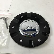"Zinik Z9 Sabini Wheel Center Hub Cap Black w/ Chrome Center CAP-Z090 6.75"" ZK43"