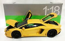 WELLY 18041W LAMBORGHINI AVENTADOR LP700-4 1:18 DIECAST MODEL CAR YELLOW