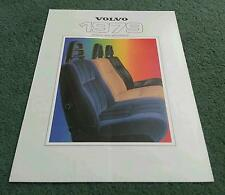 1979 VOLVO 340 343 240 244 245 264 265 COLOUR & TRIM UPHOLSTERY CHART BROCHURE