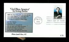 Irving Berlin 3669 FDC by Vrmont Scribes God Bless America + South Hero photo