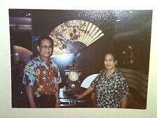 Vintage 80s Photo Hong Kong China Vacation Hotel Lobby Old Traditional Fan Clock
