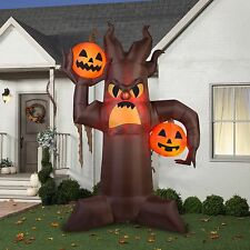 10.5' X 7' Brown Scary Tree Halloween Airblown Inflatable Decoration