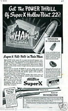 1941 Print Ad of Western Super X 22 Long Rifle Ammo w Model 69-A 67 Bolt Action